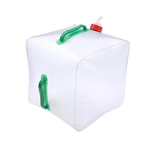 TSLBW 20L Wasserkanister Faltbarer Wasserkanister Wassertank Wasserbeutel Faltkanister Wasserbehälter Wasser Lagerung für Büro Camping Saft Getränke Cocktails Fassungsvermögen