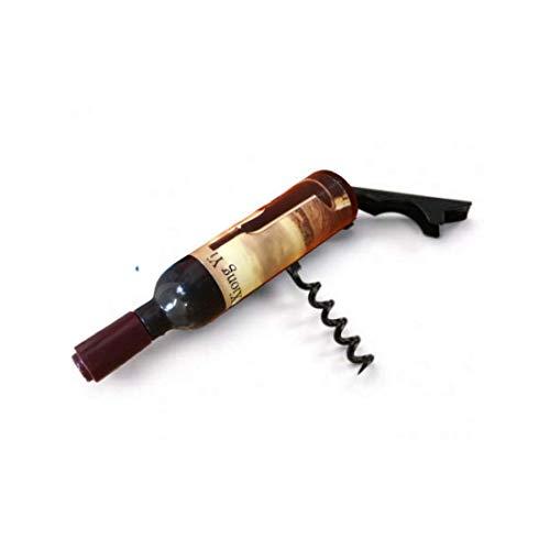 Ducomi Sommelier - Cavatappi Apribottiglie per Vino in Metallo a Forma di Bottiglia - Cavatappi da Sommelier Disegno Professionale Facile da Usare per Vini - Regalo Originale Uomo (Bottle Shaped)