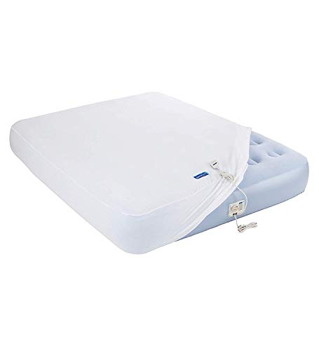 """AeroBed Luxury Collection Extra Comfort 12"""" Tall Inflatable Bed with Built-In 120V AC Electric Pump and Removable Fleece Cover (Twin Size)"""