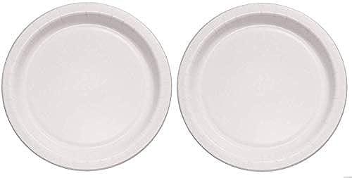 Solo Foodservice MP9J8001CT Pappteller, mittelschwer, 21,6 cm, Weiß, 500 Stück, 2-(Pack)