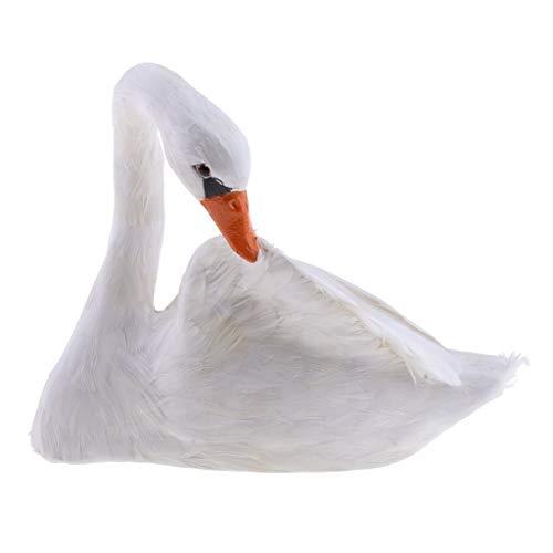 Backbayia - Decoración de cisne Simulada para jardín o césped, decoración esculpida para casa, regalo (#4)