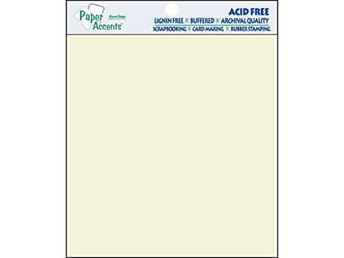 Accent Design Paper Accents Smooth 8x8 Cream 25pc Paper