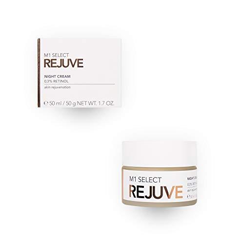 Anti-Aging Nachtcreme mit 0,3% Retinol und Vitamin E, Avocado-Öl, Sheabutter - M1 SELECT REJUVE NIGHT CREAM 50ml