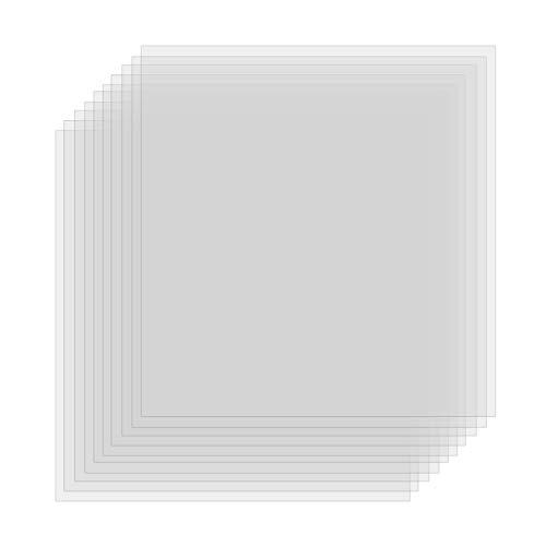 10 Stück Mylar Schablonenblätter Airbrush Schablonen DIN A3 Folie Mylarfolie zur Verwendung mit Silhouette-Maschinen (30.5 x 30.5 cm) 6 Mil
