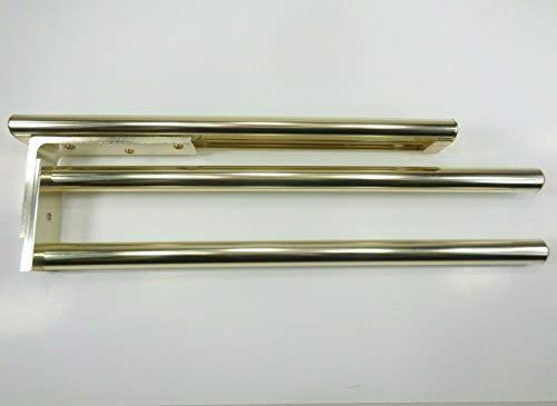 Chingchang Alu Teleskop Einbau/Unterbau Handtuchhalter Geschirrtuchhalter ausziehbar 2Armig (Gold eloxiert)