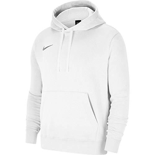 Nike Team Club 20 Hoodie Felpa con Cappuccio, Bianco/Lupo Grigio, M Uomo