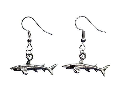 Hai Ohrringe Haiohrringe Haie Miniblings weißer Hai Zähne Jaws Raubfisch silber