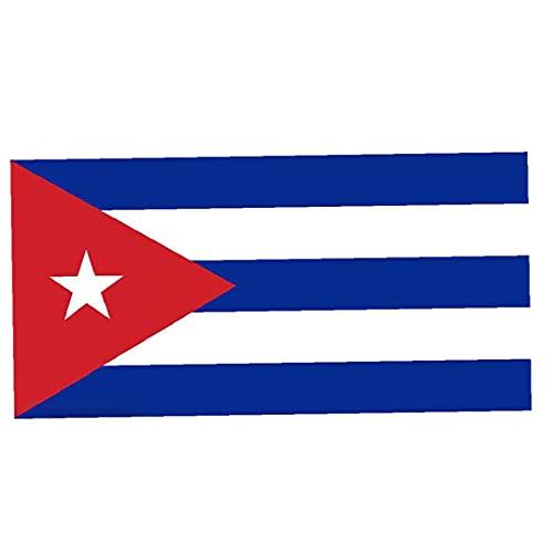 Nicedier Kuba Nationalflagge 3 * 5FT Außen Helle farbige Banner International World Country Flags Partydekoration für Olympia Sportvereine Festival Feiern Garten Flagge