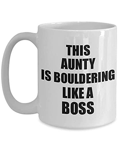 N\A This Aunty Is Boulder Like A Boss Mug Taza Divertida Idea Regalo Familiar Taza de té de café 2C7MF5