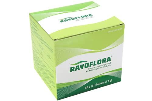 Rayoflora Nahrungsergänzungsmittel, 12 wichtige Bakterienkulturen, 31 Portionsbeutel je 2 g