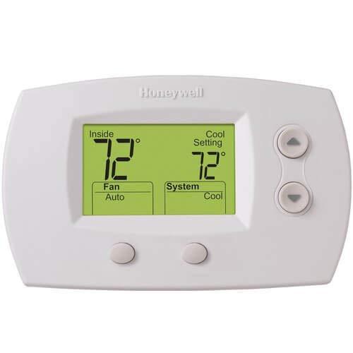 Honeywell TH5220D1029/U 5000 Termostato digital de calefacción y refrigeración no programable, color blanco