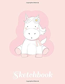 """Sketchbook: Unicorn Blank Sketchbook for kids White Paper for Drawing, Doodling or Sketching 8.5"""" x 11"""" 100 page"""