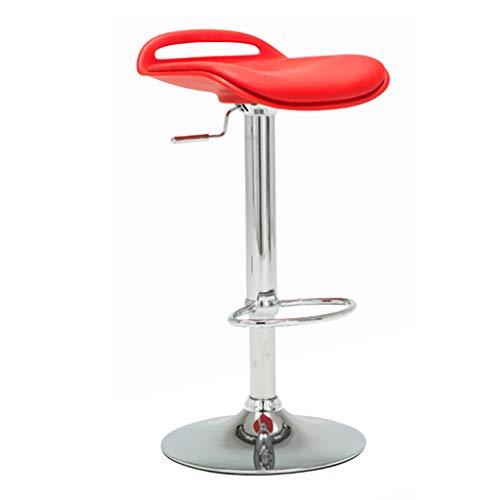 Chaises de réception Belle Chaise dans Le Salon Chaise Haute de Bar Chaise de Banque Chaise de Personnel de la société Chaise d'étude Tabouret de Bar Chaise Longue de Balcon (Color : Red)