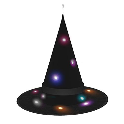 Dihui Black Halloween Glowing Hat, Outdoor, Garden, Trees, Party Decoration, Outdoor Halloween Decorations, Witch Hat with Lights.