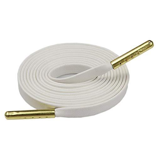 7MM Schuhzubehör Exquisite Qualität PU Leder Schnürsenkel Für Benutzerdefinierte Schnüre Bulk Lace Bestellen Drop Shipping # 1207-1215,1212 White Golden, China
