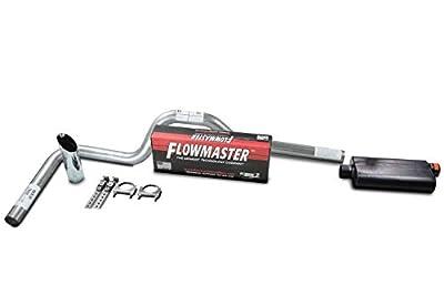 XsvFLO Exhaust Kits - Shopline Single exhaust system 3in AL pipe Flowmaster 50 Series 3.Chrome Slash Cut Weld on Tip