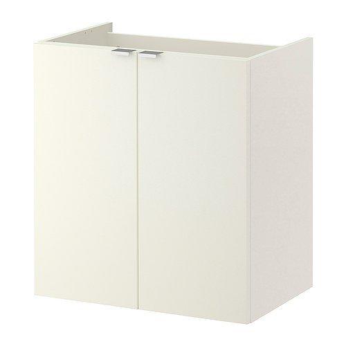 IKEA LILLANGEN Waschkommode mit 2 Türen; in weiß; (60x38x64cm)