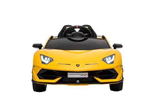 RIRICAR Paseo Eléctrico En Automóvil Aventador, Amarillo, Licencia Original, Alimentado por Batería,...
