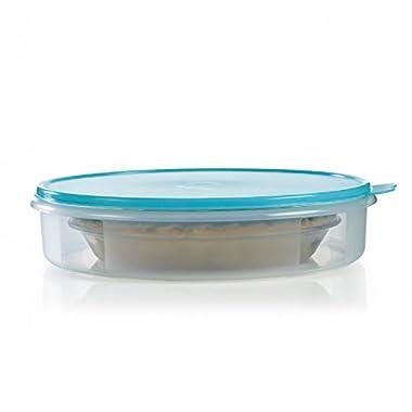 Tupperware Round Pie or Cupcake Keeper, 12-Inch, Sheer (Summer Blue)