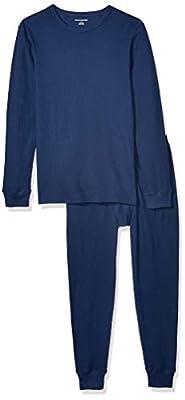 Amazon Essentials Men's Thermal Long Underwear Set, Navy, X-Small