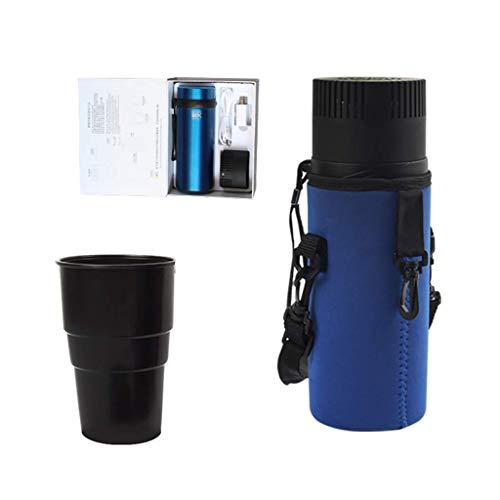 Okänd ADKINC 5 W bil kylskåp liten minikylskåp: Passar för en mängd olika storlekar av kaffe, soda, öl och så vidare (svart, bule, röd)