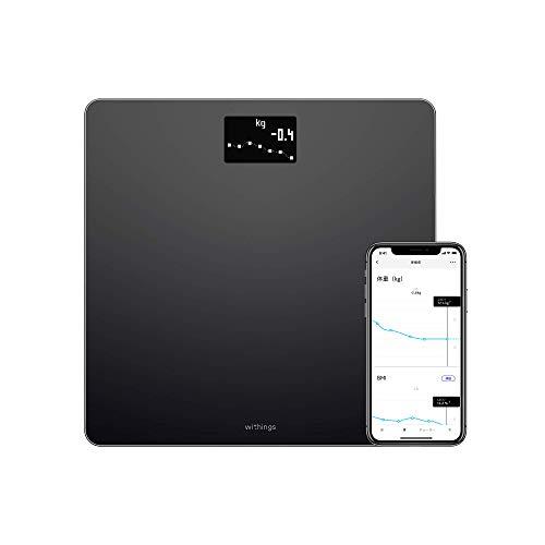 Withings/Nokia スマート体重計 Body ブラック Wi-Fi/Bluetooth対応 BMI体重計 【日本正規代理店品】