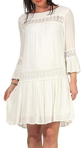 Only Onltyra 3/4 Flare Short Dress Wvn Noos Vestido Casual, Cloud Dancer, 40 para Mujer