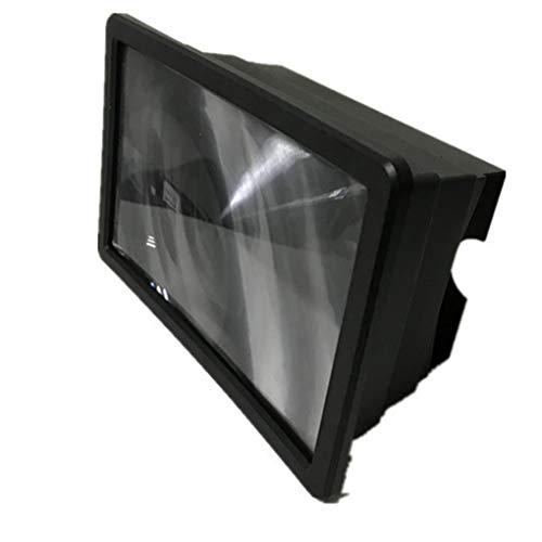 Jinghengrong Pantalla F2 Plegable del teléfono móvil de la película 3D Amplificador Ampliar HD Lupa protección contra la radiación con Soporte de pie, Negro