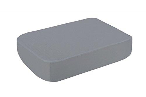 B-Sensible® - Spannbettlaken Standard aus wasserdichtem Dermofresh® Spannbetttuch - atmungsaktiv - anti-bakteriell - hemmt Gerüche - 100% Natur Größe 200x200cm, Farbe Grau
