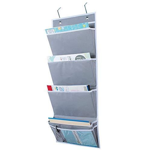 DDLONY Organizador de Pared Colgante, Bolsa de Almacenamiento Colgante Carpetas de Archivos Colgantes Montaje en Pared/sobre la Puerta Organizador de Correo de Almacenamiento