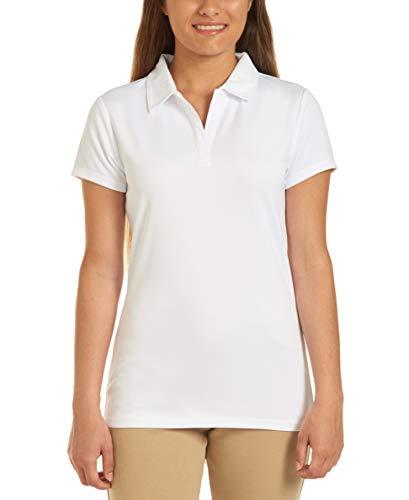 Chaps Womens Uniform Short Sleeve Performance Polo, White, Small(3/5)