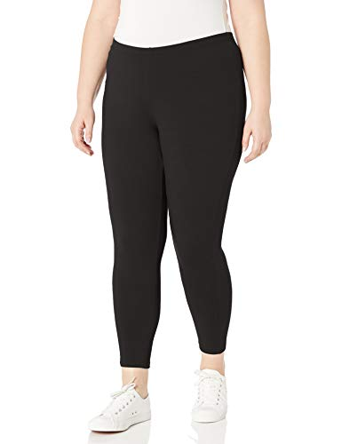 Just My Size Women's Plus-Size Stretch Jersey Legging, Black, 1X