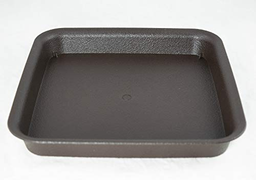 Square Plastic Humidity Tray for Bonsai Tree 8.5'x 8.5'x 1.25' - Dark Brown