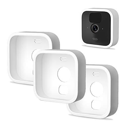 Silikon Hülle für Blink Outdoor - 3er Pack Kamerahülle Silikonbezüge Haut Weiß Home Security-Kamerasystem Überwachungskamera - Wasserdichtes Silikon Schutz Kompatibel mit Neu Blink Outdoor-Kamera