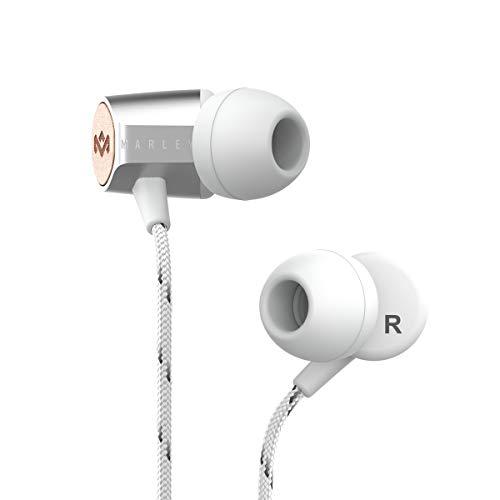 House of Marley Uplift 2.0, Geräuschisolierende In-Ear Kopfhörer, 9mm Treiber, Mikrofon, 1-Knopf Steuerung, nachhaltige Materialien, verschiedene Ohrstöpselgrößen, silver