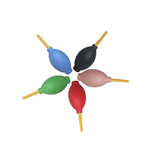 Mini Soplador De Polvo Limpieza para CáMara Kit De Limpieza para Lentes Limpiador De Polvo De Aire Soplador De Aire PortáTil para Pera De Aire para para CáMara Objetivos Sensores Teclado 5 Piezas