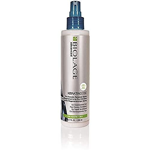 BIOLAGE Advanced Keratindose Pro-Keratin Renewal Spray | Restores Hair's Shine & Manageability | Paraben-Free | for Overprocessed, Damaged Hair | 6.7 Fl Oz