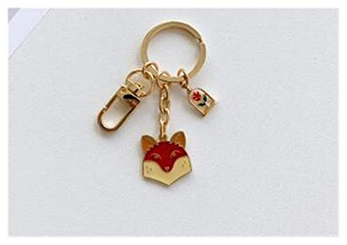 jsobh Keychains Animal Keychain Jewelry Accessories Key Chains Pendant Gifts Favors Cartoons (Color : R)