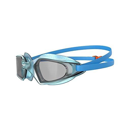 Speedo Unisex-Youth Hydropulse Junior Schwimmbrille, Pool Blue/Chilli Blue/Light Smoke, Einheitsgröße