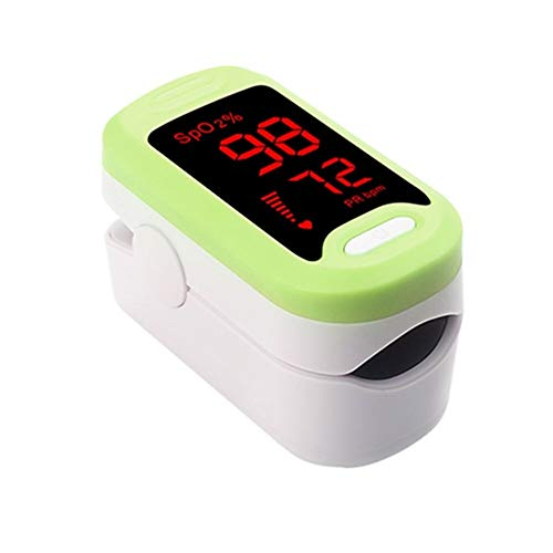 DaTun648 Pulsoximeter, Adult LED Blut-Sauerstoff-Pulsmesser Oximeter Oximeter beweglicher Finger-Oximeter-Blutdruckmessgerät Finger (Color : Green)