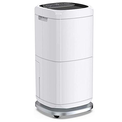 Purchase HWZQHJY 140 Pints Commercial Dehumidifier 17 Gallons Large Capacity Dehumidifiers for Basem...