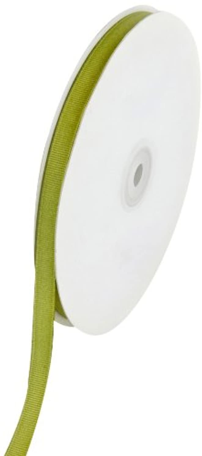 Creative Ideas Solid 3/8-Inch Grosgrain Ribbon, 50-Yard, Moss Green