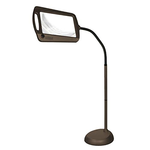 Daylight 24 402039-BRNZ Full Page 8 x 10 Inch LED Illuminated Floor, Bronze Magnifier Lamp