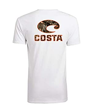 Costa Del Mar Men s Costa Short Sleeve T Shirt White Realtree Edge Camo Medium