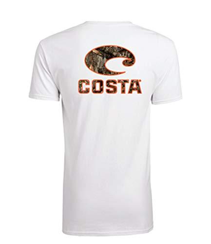 Costa Del Mar Men's Costa Short Sleeve T Shirt, White Realtree Edge Camo, Medium