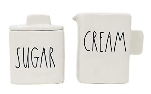 2 Piece SUGAR and CREAM Ceramic