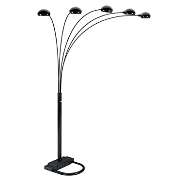 ORE International 6962BK 5 Arm Arch Floor Lamp, Black