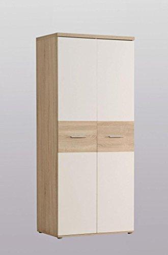 Forte Möbel Kleiderschrank Winnie 2 Türen mit Bauchbinde in Sonoma Eiche