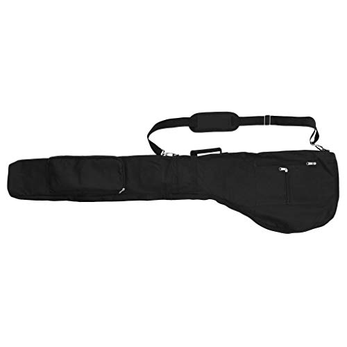 IPOTCH Golf Pouch Bag Travel Bag Case (Adult Size) Perfect for the Golfer on the Go (Green/Red/Orange/Black) - Black