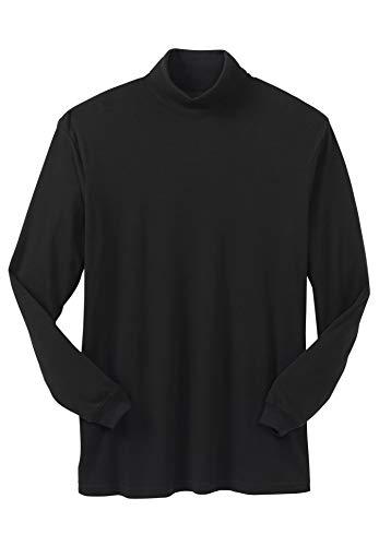 KingSize Men's Big & Tall Turtleneck Long-Sleeve Tee - Big - 8XL, Black